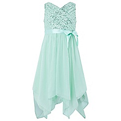 Monsoon - Girls' green 'Laurentia' Sequin Dress