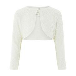 Monsoon - Girls' white 'Honeysuckle' cardigan