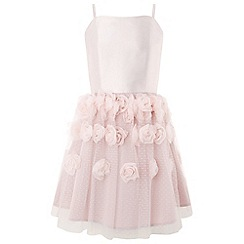 Monsoon - Girls' pink rosalie cascade dress