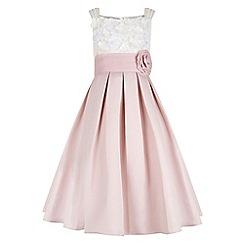 Monsoon - Girls' pink 'Enola' flower dress