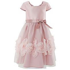 Monsoon - Girls' pink 'Peony Cascade' dress