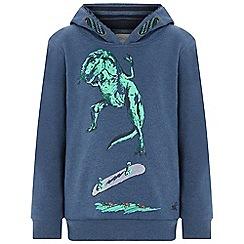 Monsoon - Boys' blue 'Scott' skater dino hoodie