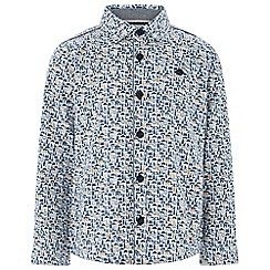 Monsoon - Boys' white 'Declan' London print shirt