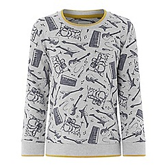 Monsoon - Boys' Grey 'Eddy' Music Jumper