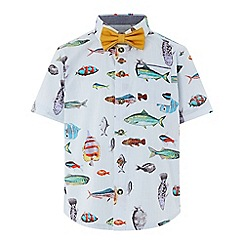 Monsoon - Boys' Multicoloured 'Jack' Fish Print Shirt and Bow Tie