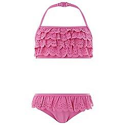 Monsoon - Girls' Pink 'Lola' Laser Cut Bikini
