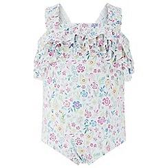 Monsoon - Baby girls' White 'Aailyah' Disty Swimsuit