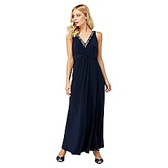 Monsoon - Blue 'Rosetta' maxi dress
