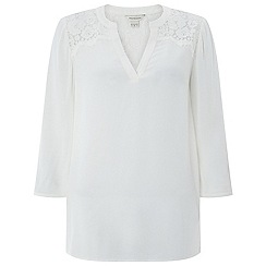 Monsoon - Ivory 'Lanelle' lace top