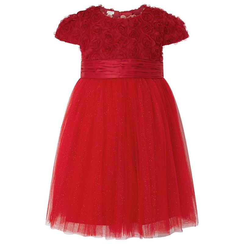 MONSOON | Monsoon - Red Baby 'Maisie' Rose Dress | Goxip