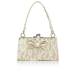Monsoon - Gold 'Estella' lace jewel bag