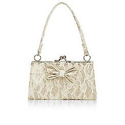 Monsoon - Gold 'Estella' lace jewel bag