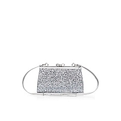 Monsoon - Silver bow frame glitter bag