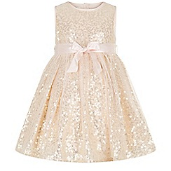 Monsoon - Gold baby 'Evelina' dress