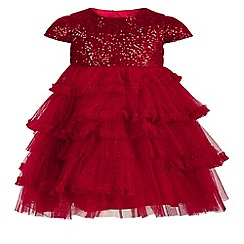 Monsoon - Red baby 'Ola' sequin dress