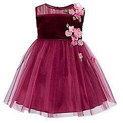 Monsoon - Red baby velvet 'Fallon' dress