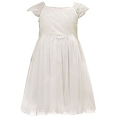 Monsoon - White baby 'Estella' sparkle dress