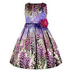 Monsoon - Multi-coloured girl's 'Foxglove' print dress