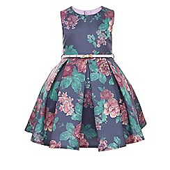Monsoon - Multi-coloured girl's tapestry rose print dress