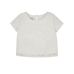 Monsoon - White girl's 'Alessandra' lace top