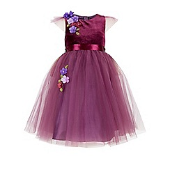 Monsoon - Purple girl's 'Theodora' flower dress