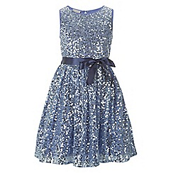 Monsoon - Blue girl's 'Evelina' dress