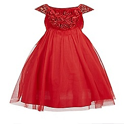 Monsoon - Red girl's 'Rosa' velvet dress