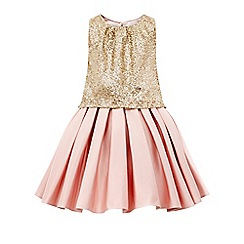 Monsoon - Gold sequin girl's 'Arlenis' dress