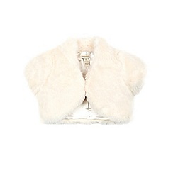 Monsoon - Off White saskia short sleeve faux fur