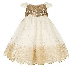 Monsoon - Gold girl's 'Estella' glitter gold dress