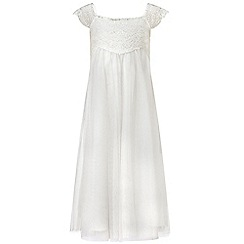 Monsoon - White girl's 'Estella' sparkle dress