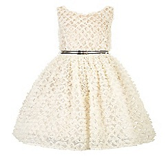 Monsoon - White girl's 'Gigi' sparkle dress