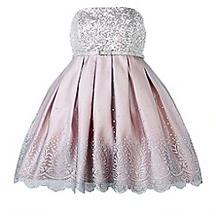 Monsoon - Silver girl's 'Josephine' sequin dress