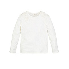 Monsoon - Off White girl's 'Peggy' crochet tee
