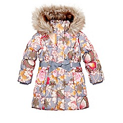 Monsoon - Grey girl's blossom butterfly padded coat