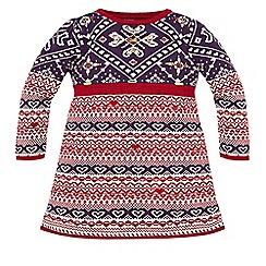 Monsoon - Multicoloured  girl's  'Jemma' jewel knitted dress