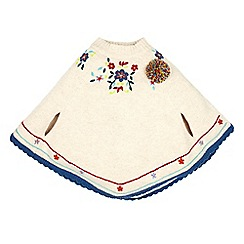 Monsoon - Multi-coloured girl's 'Cora' embellished poncho