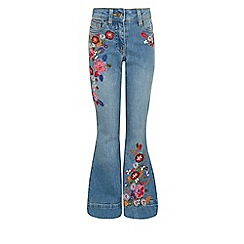 Monsoon - Blue girl's 'Millie' flared jeans