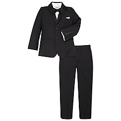 Monsoon - Black boy's 'Tobias' tuxedo set