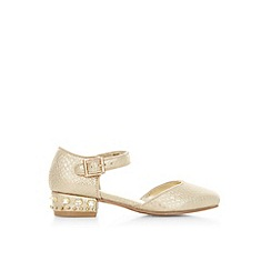 Monsoon - Gold girl's shimmer stud two-part shoes