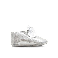 Monsoon - Silver baby sparkle bow booties