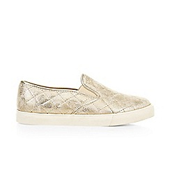 Monsoon - Gold girl's quilted shimmer pumps