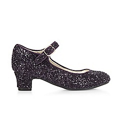 Monsoon - Purple girl's glitter 'Cha Cha Cha' shoes