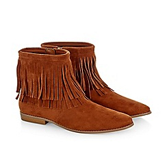 Monsoon - Brown girl's tassel boots
