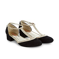 Monsoon - Black girl's vintage t-bar block heel shoes