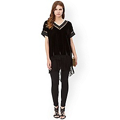 Monsoon - Black valerie velvet top