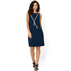Monsoon - Blue 'Regina' necklace dress