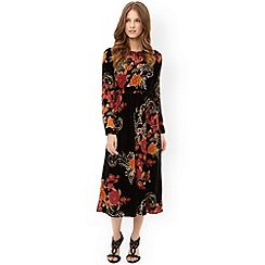 Monsoon - Black ginger velvet midi dress