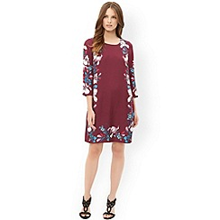 Monsoon - Red 'Claudette' print dress