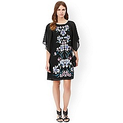 Monsoon - Black claudette embroidered dress